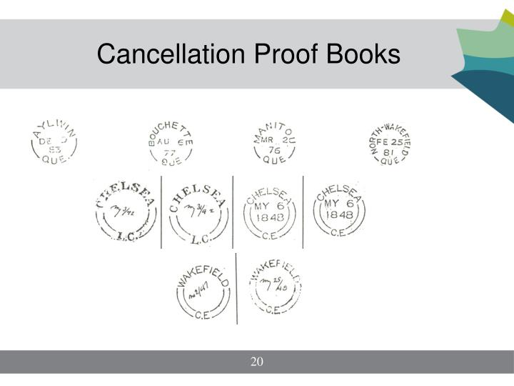 Cancellation Proof Books
