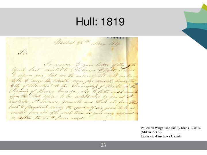 Hull: 1819