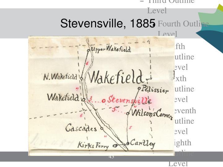 Stevensville, 1885