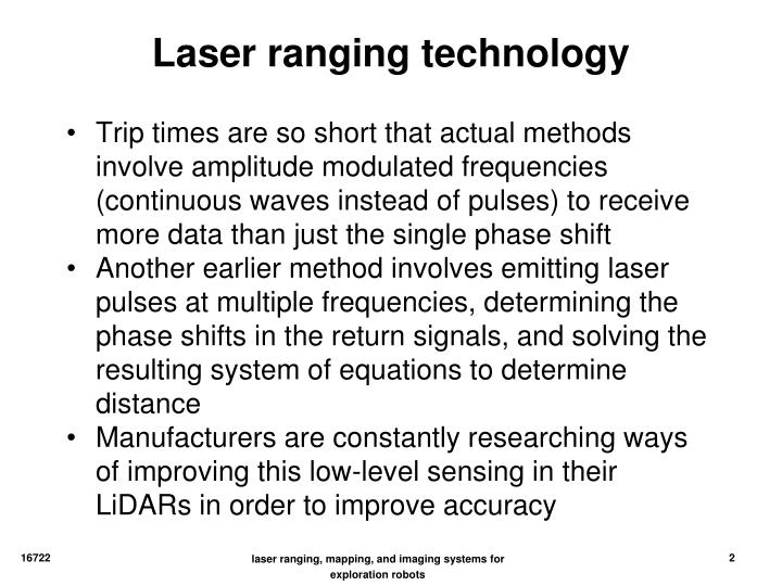 Laser ranging technology