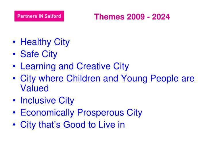 Themes 2009 - 2024