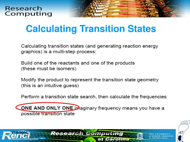Calculating Transition States