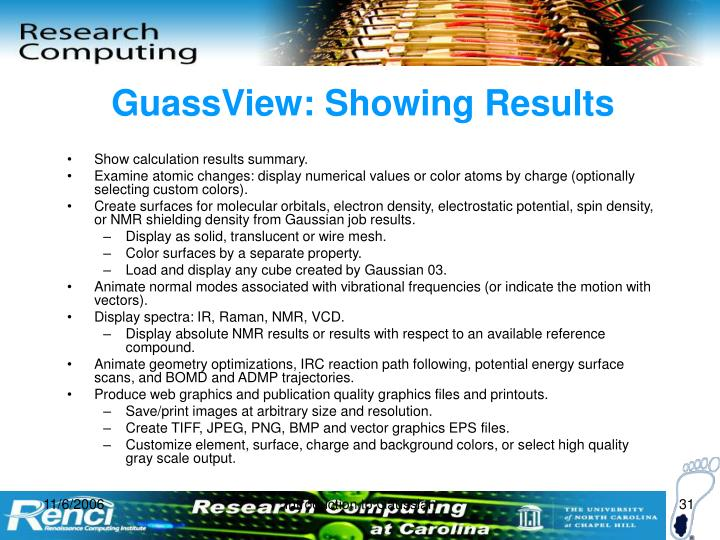 GuassView: Showing Results