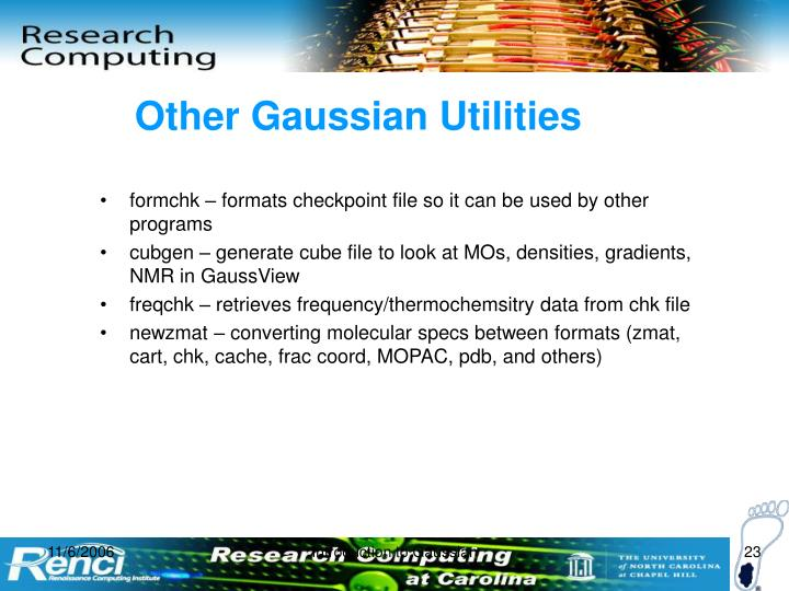 Other Gaussian Utilities