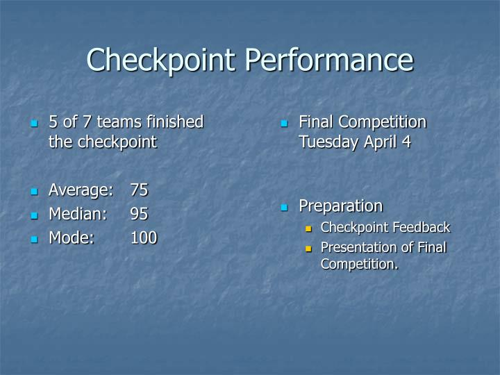 Checkpoint Performance