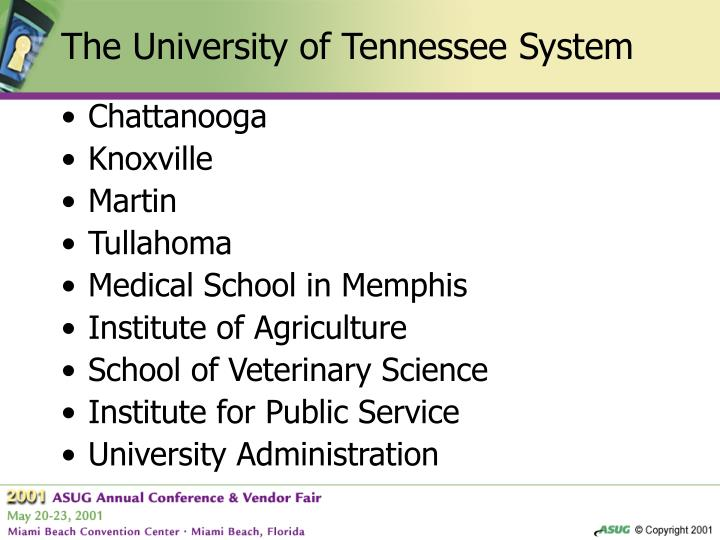 The University of Tennessee System