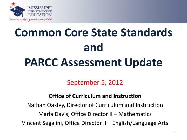 Common Core State Standards and