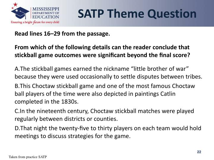 SATP Theme Question