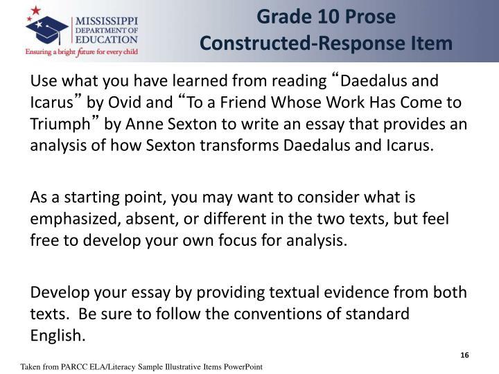Grade 10 Prose