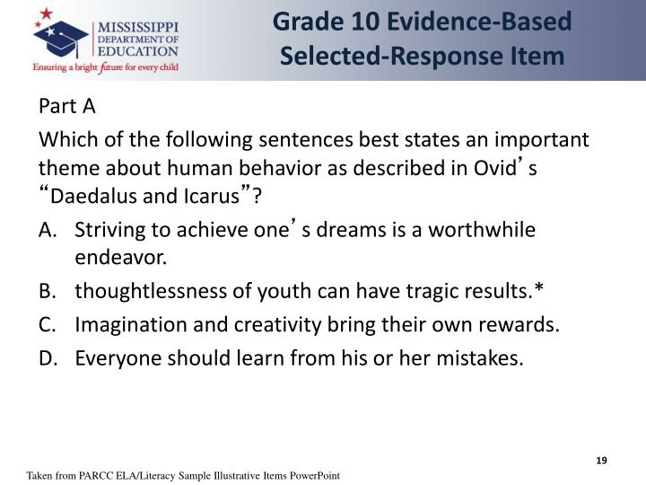 Grade 10 Evidence-Based