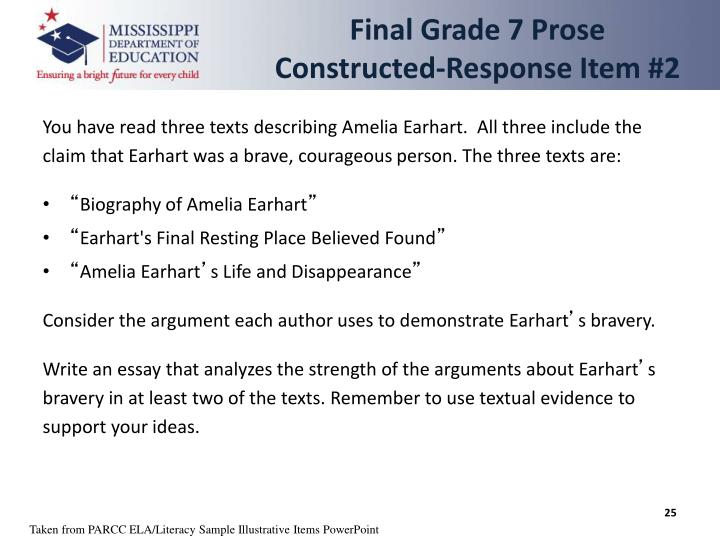 Final Grade 7 Prose