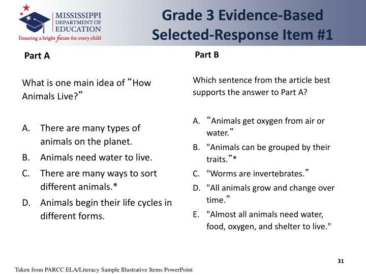 Grade 3 Evidence-Based