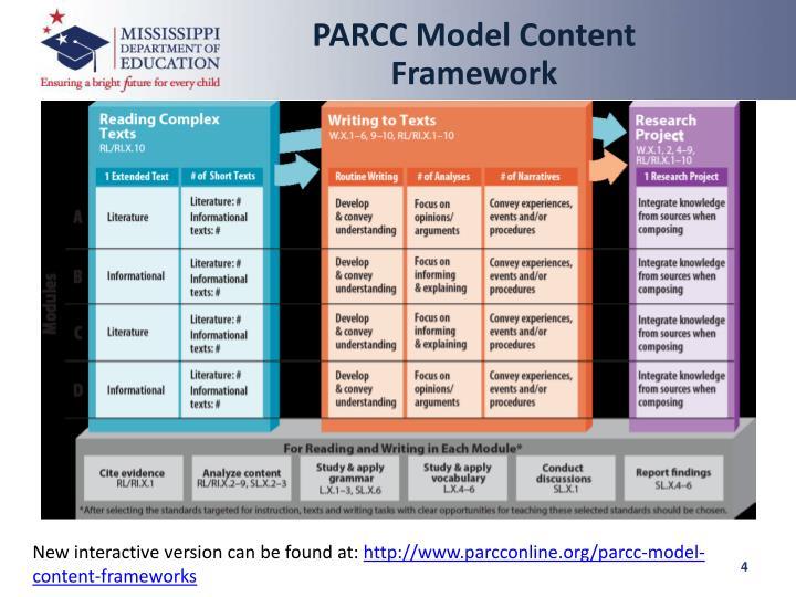 PARCC Model Content Framework