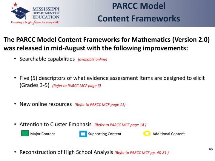 PARCC Model