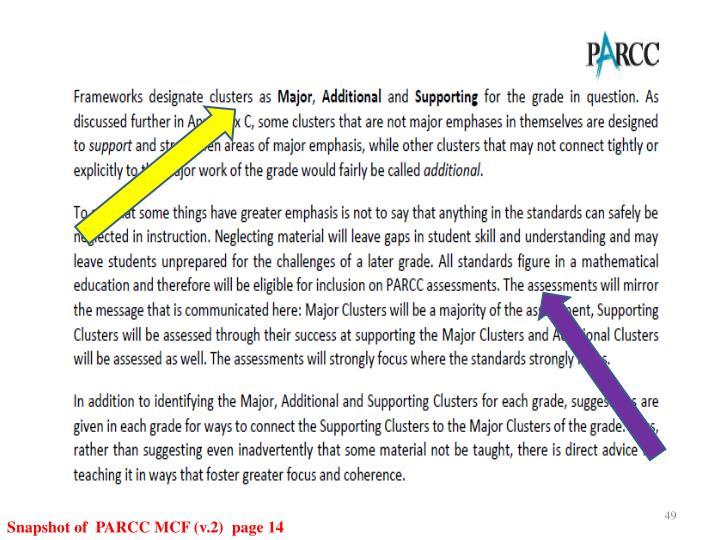 Snapshot of  PARCC MCF (v.2)  page 14