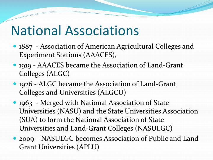 National Associations