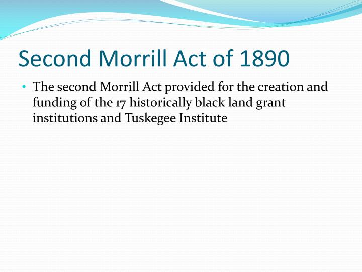 Second Morrill Act of 1890