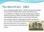 the morrill act 1862