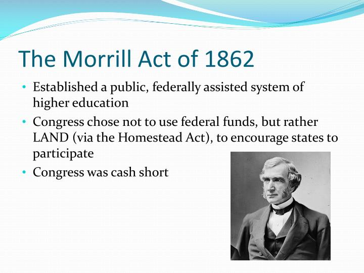 The Morrill Act of 1862