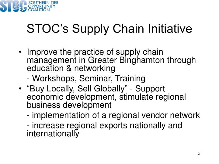 STOC's Supply Chain Initiative