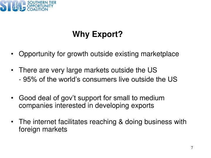 Why Export?