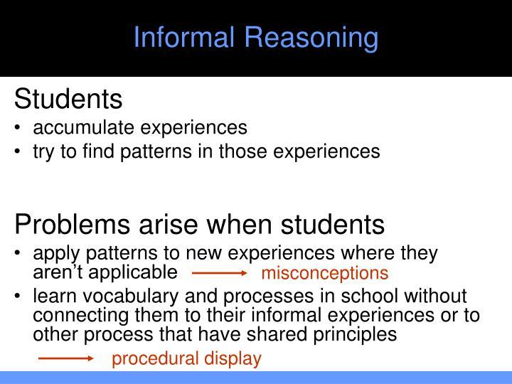 Informal Reasoning