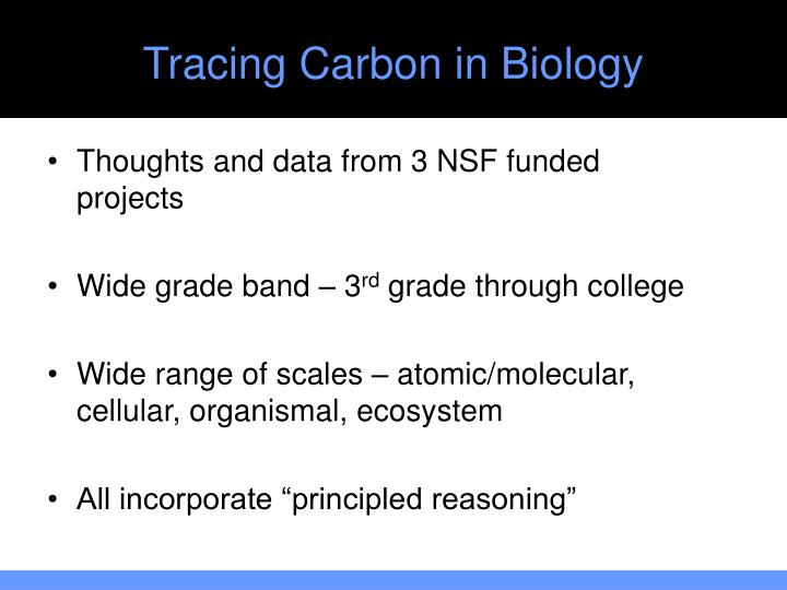 Tracing Carbon in Biology