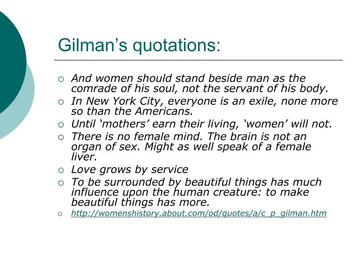 Gilman's quotations: