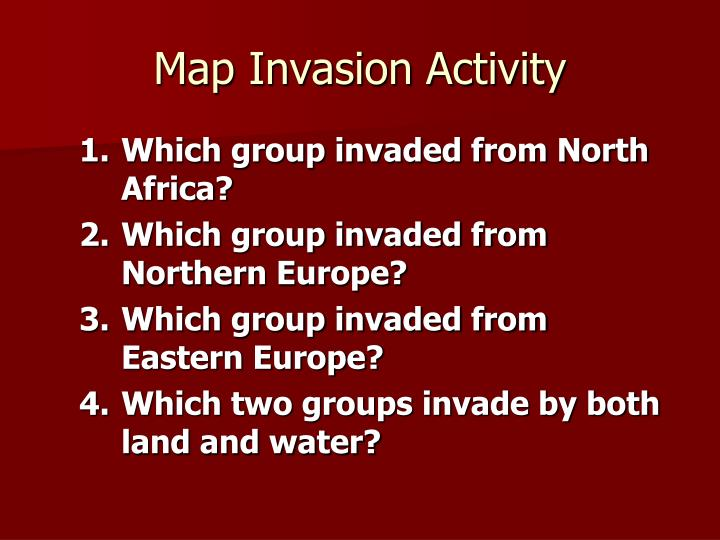 Map Invasion Activity