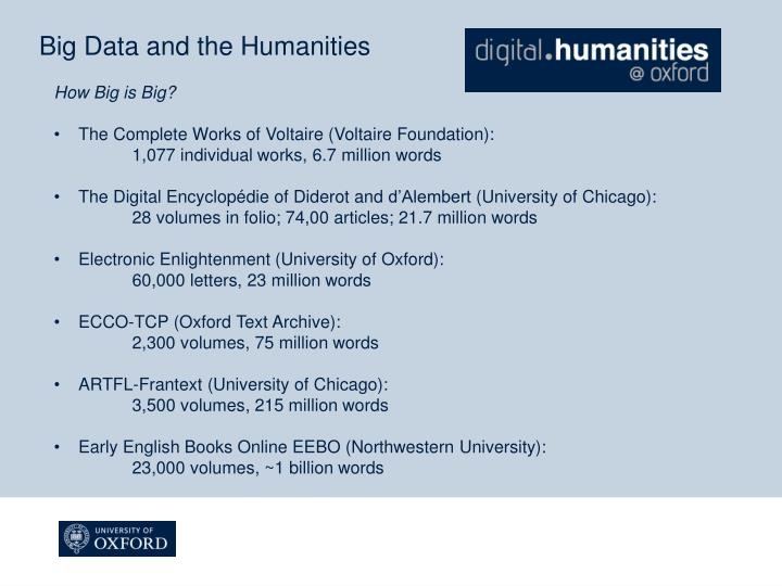 Big Data and the Humanities