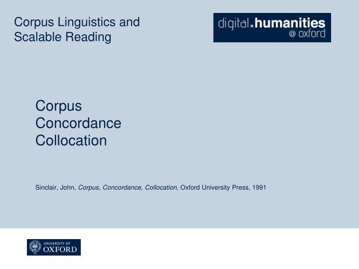 Corpus Linguistics and