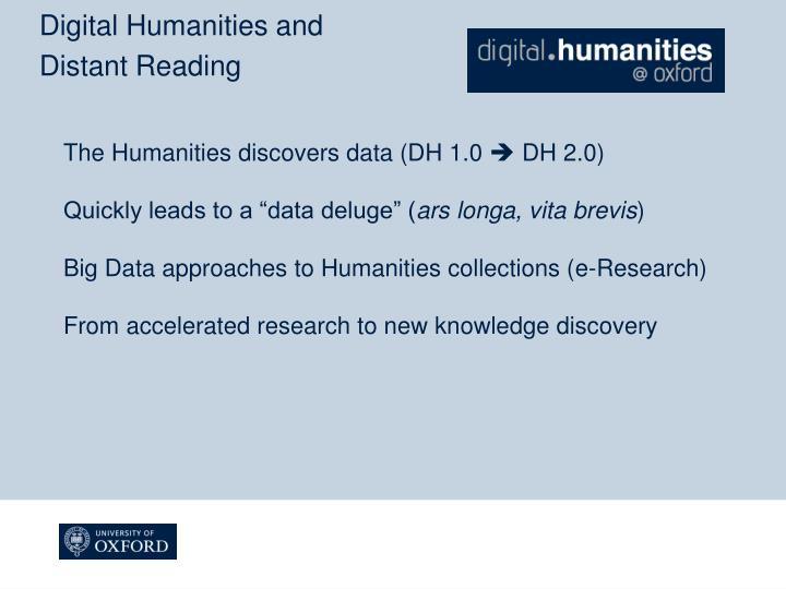 Digital Humanities and