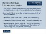 information retrieval philologic search engine