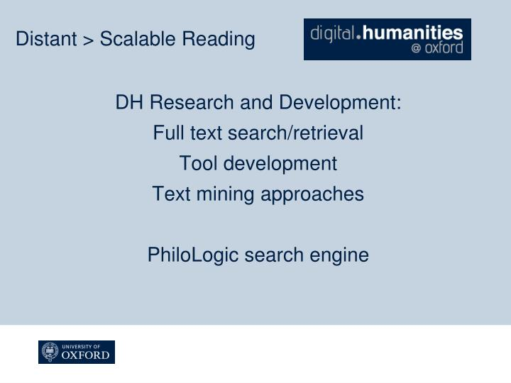DH Research and Development: