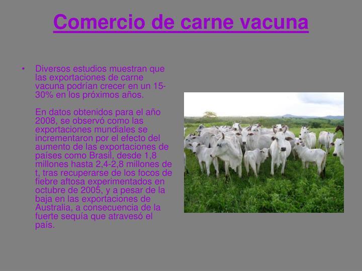 Comercio de carne vacuna