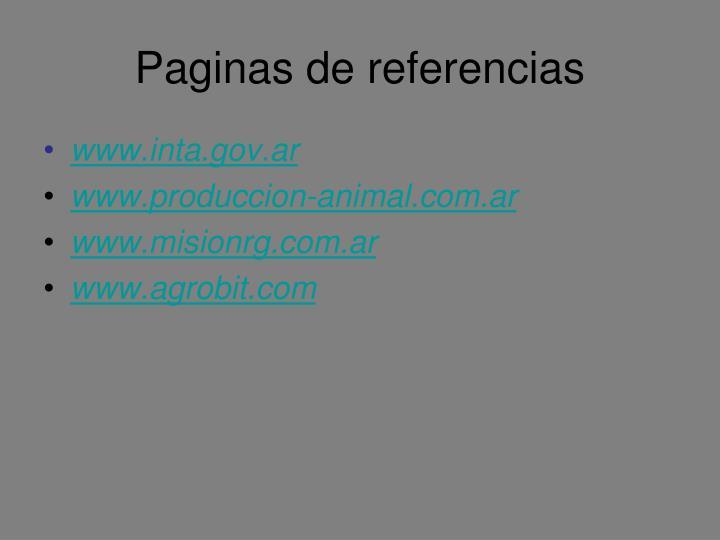 Paginas de referencias