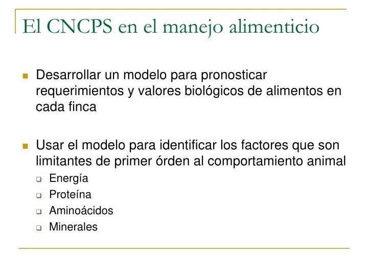 El CNCPS en el manejo alimenticio