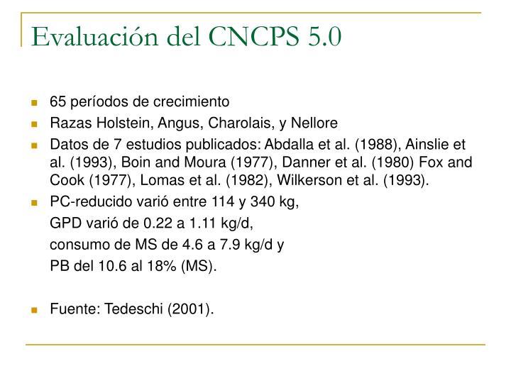 Evaluación del CNCPS 5.0