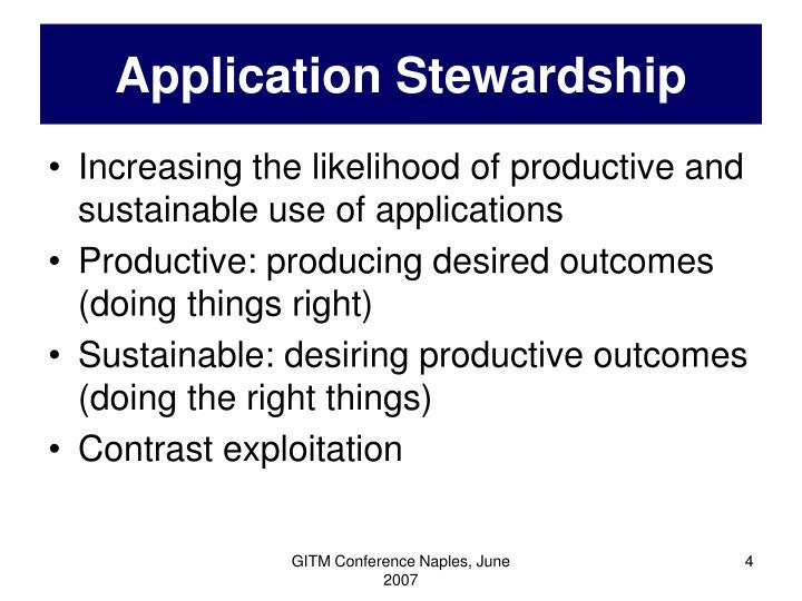 Application Stewardship