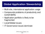 global application stewardship