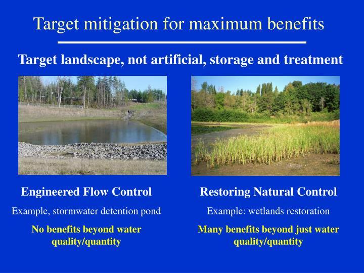 Target mitigation for maximum benefits