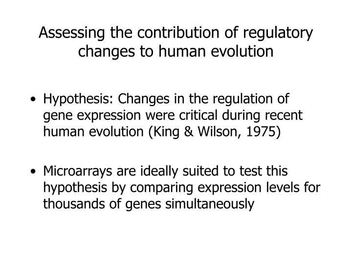 Assessing the contribution of regulatory changes to human evolution