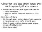 clinical trait e g case control status gives rise to a gene significance measure