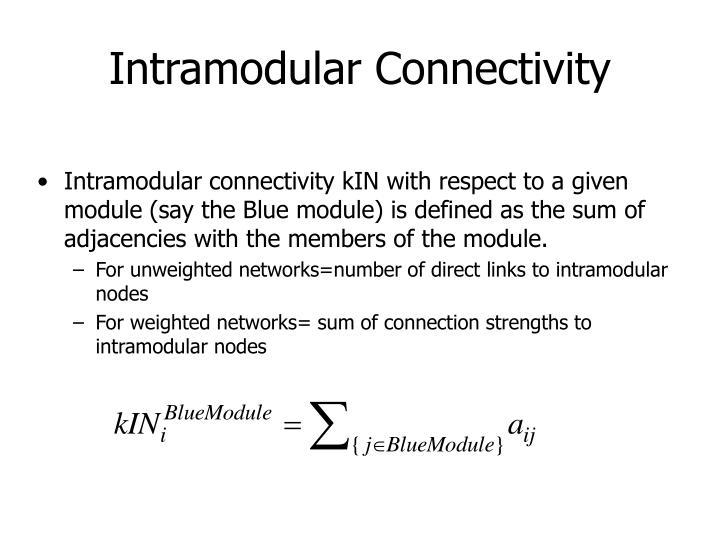 Intramodular Connectivity