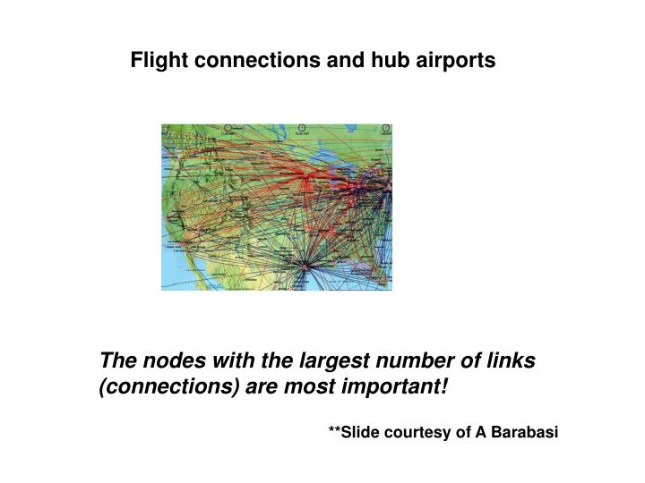 Flight connections and hub airports
