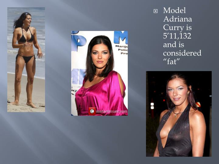 Model Adriana Curry is 511,132 and is considered fat