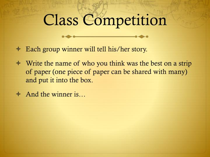 Class Competition