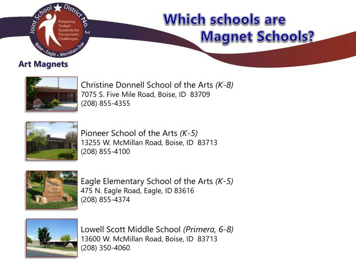 Which schools are