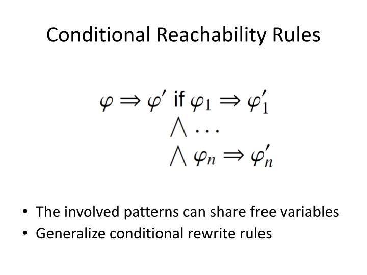 Conditional Reachability Rules