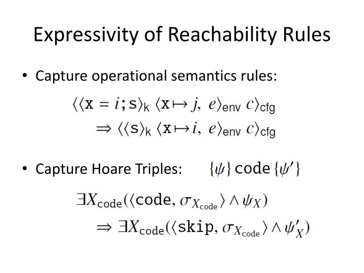 Expressivity of Reachability Rules